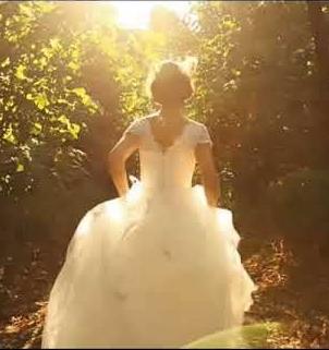 a bride leaving